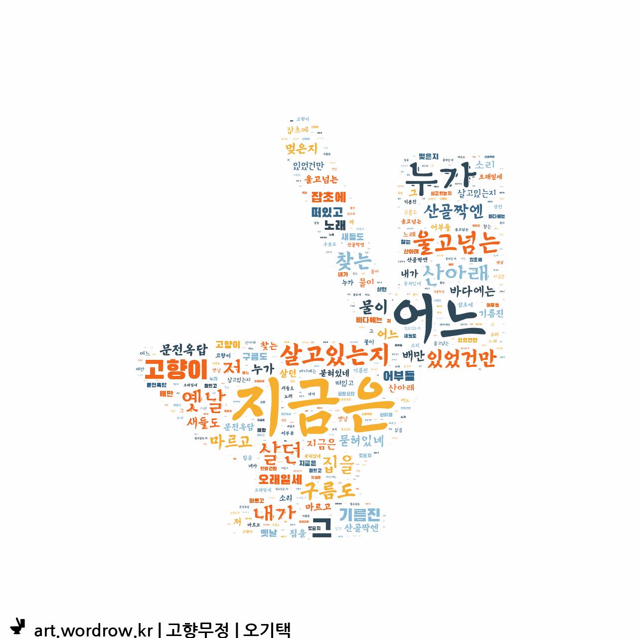워드 클라우드: 고향무정 [오기택]-9